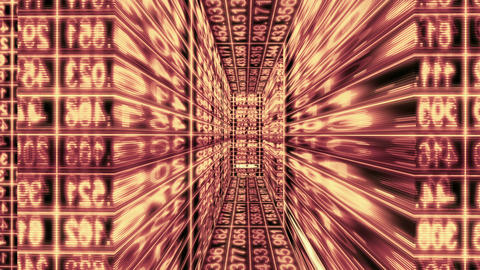 Traveling through a maze of digital data - Data Storm 0588 HD, 4K Animation