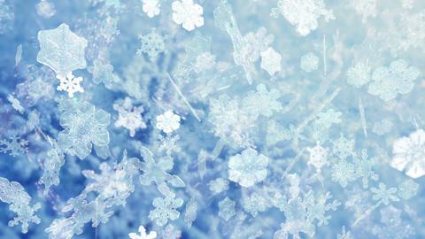 Christmas snowflakes falling - Snowflakes 100 HD, 4K Animation