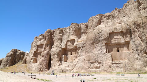 in iran near persepolis the old ruins historical destination monuments and ruin Live Action
