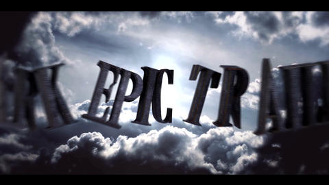 DARK EPIC TRAILER After Effects Template
