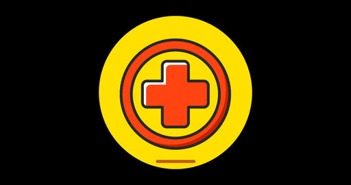 Medicine Premium flat icon animated with alpha channel Live Action