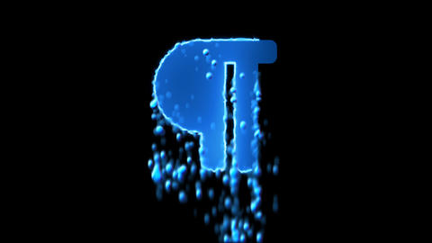 Liquid symbol paragraph appears with water droplets. Then dissolves with drops Animation