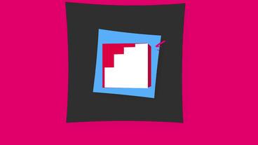 3D Cube Social Media Logos モーショングラフィックステンプレート