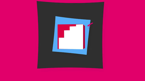 3D Cube Social Media Logos Motion Graphics Template