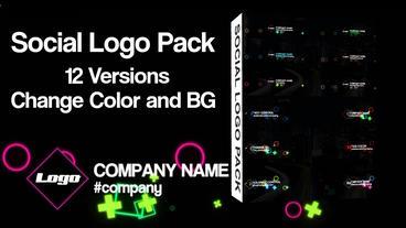 Social Logo Pack Premiere Proテンプレート