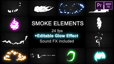 Flash FX Cartoon Smoke Motion Graphics Template