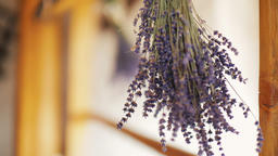 Beautiful Dried Lavender Flowers in the Rural Wooden House ビデオ