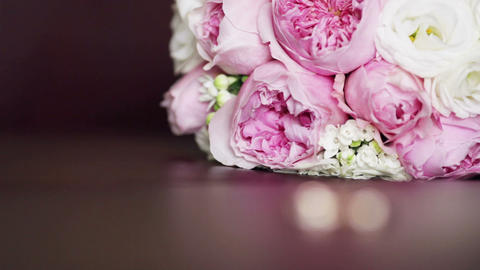 Rings and bouquet wedding Footage