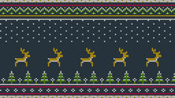 Animated looped Northern knitted ornament for sweeter Animation