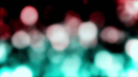 Bokeh Falling Red Green Rain Loop Background Animation