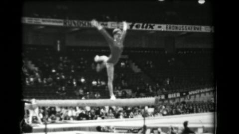 1966: Larisa Petrik Soviet Union women's balance beam 16th Artistic Gymnastics W Footage