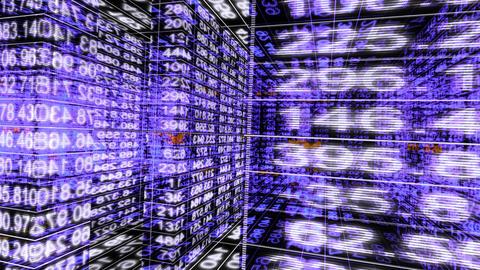 Traveling through a maze of digital data - Data Storm 0590 HD, 4K Animation