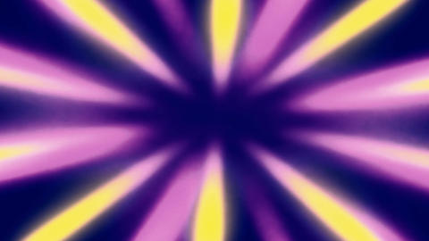 Shiny Sunburst Rays Of Yellow And Purple Light Loop Backgorund Animation
