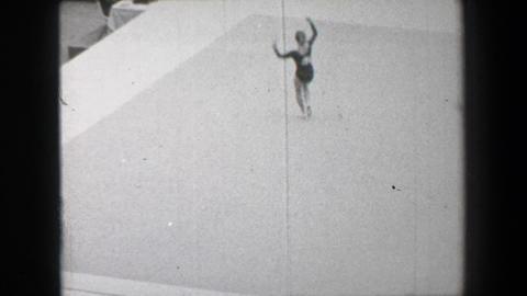 1968: Larisa Petrik Part 2 Of 2 Soviet Union Women's Floor Exercise Gymnastics S stock footage