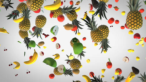 Flying Fresh food background CG動画素材