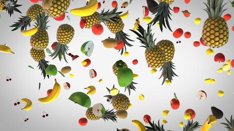 Flying Fresh food background Animation
