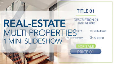 Real-Estate Multi Properties 1min Slideshow 6 - After Effects Template After Effects Template