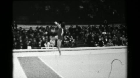 1966: Taki Shibuya Japan women's floor exercise 16th Artistic Gymnastics World C Footage