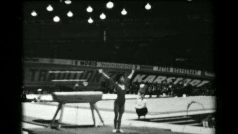 1966: Taki Shibuya Japan women's vault 16th Artistic Gymnastics World Championsh Live Action
