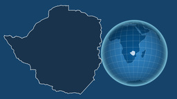 Zimbabwe and Globe. Solids Animation