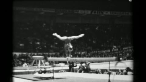 1966: Polina Astakhova Soviet Union women's balance beam 16th Artistic Gymnastic Live Action