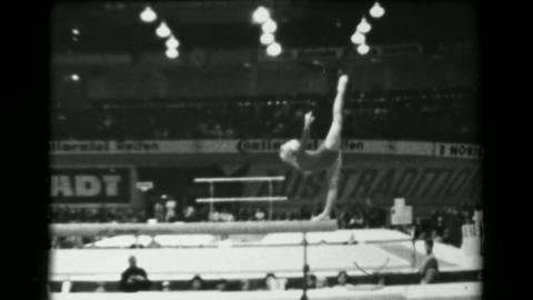 1966: Larisa Petrik Soviet Union balance beam 16th Artistic Gymnastics World Cha Footage