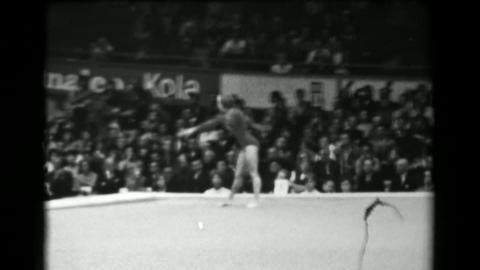 1966: Jindra Košťálová Czechoslovakia floor exercise 16th Artistic Gymnastic Footage