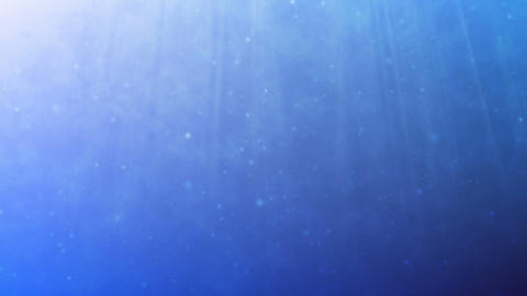 Underwater Scene With Light Rays. Seamless Loop stock footage