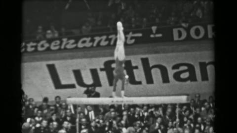 1966: Natalia Kuchinskaya Soviet Union women's balance beam 16th Artistic Gymnas Live Action