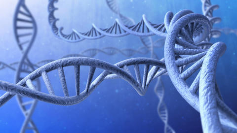 3d animation of rotating dna strands. Looped Animation