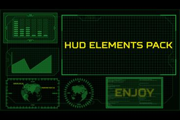HUD Elements Pack After Effectsテンプレート