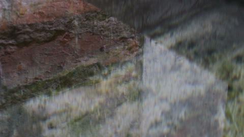 Reflection Of Water In Concrete Container Live Action