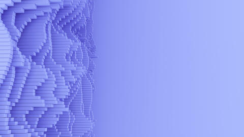 4K Abstract Waveforms With Copy Space Footage