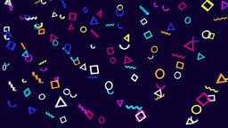 Geometric abstract looped memphis video pattern CG動画素材
