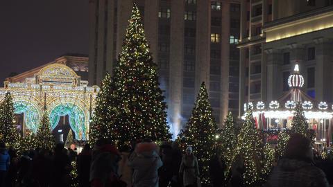 Festive festivities on Manezhnaya Square Footage