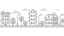 [alt video] City landscape minimalistic style contour