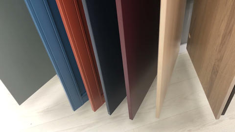 selection of door panels in the store Footage