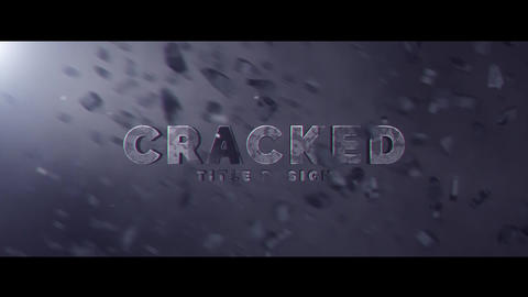 Cracked Title Design Motion Graphics Template