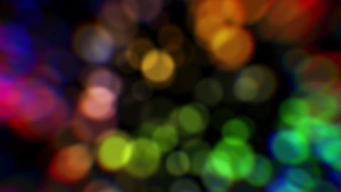 Colorful abstract background. Colorful blurred lights. Color bokeh particles GIF