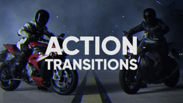 Action Transitions After Effects Template