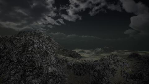 Huge Dark Clouds over Scottish Highlands Footage