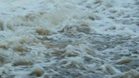 white water turbulent stream Footage