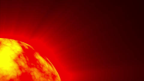 Big Red Hot Sun Surface Rays Fractal Sphere Motion Background Loop Slow Animation