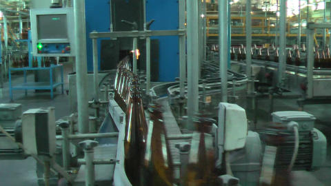 Glass bottle factory in Tyumen. Russia Footage