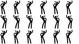 Pictogram woman dancing seamless video pattern Animation