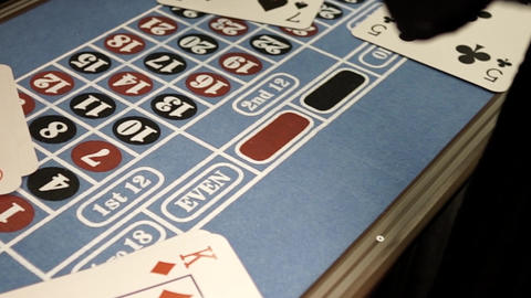 Bet your chips on red on the roulette table Footage