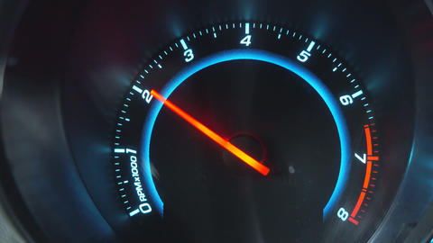 Movement of an arrow of the tachometer Live Action