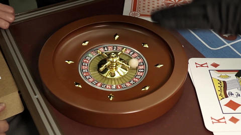 On roulette the winning sector falls, the number 11 Stock Video Footage