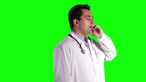 Young Doctor Greenscreen 2 Stock Video Footage