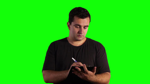 Young Man Adult Education Concept Greenscreen 13 Footage